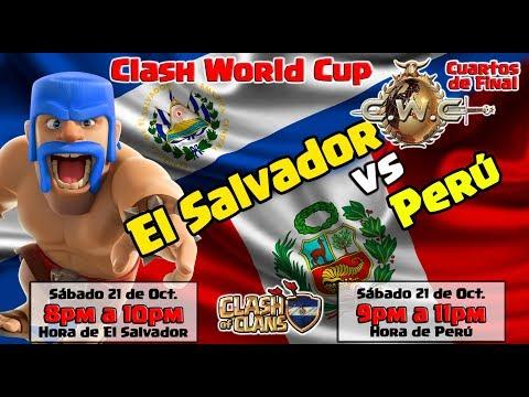 🔴 CWC EL SALVADOR vs CWC PERÚ - MUNDIAL DE CLASH OF CLANS