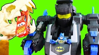 Imaginext DC Justice League Goes On Vacation + Sinestro Family Brothers Vs. Cars 3 Lightning McQueen