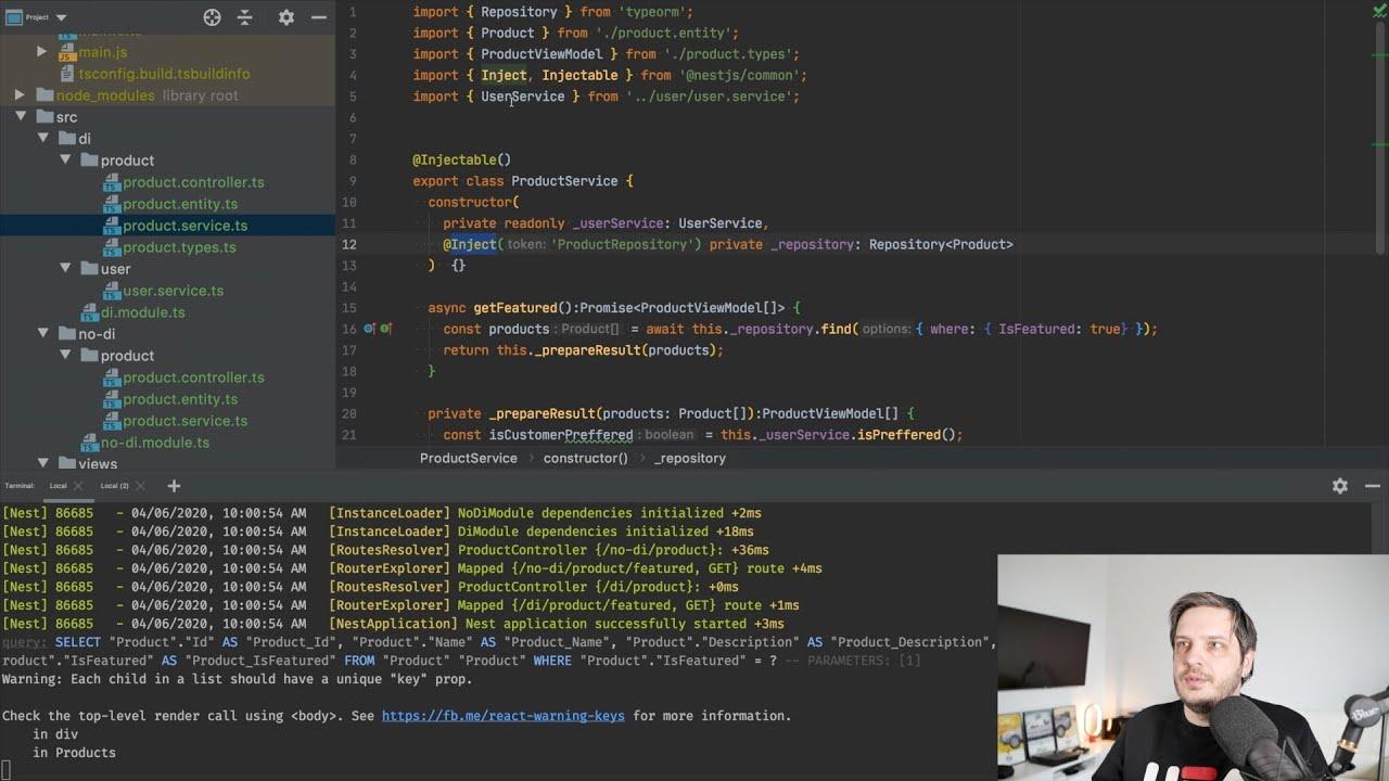 DI в nest. Рефакторинг небольшого проекта с SSR и SQLite