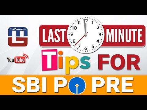LAST MINUTE TIPS FOR SBI PO PRE 2017 EXAM | SUBSCRIBE US FOR NEW VIDEO ALERT