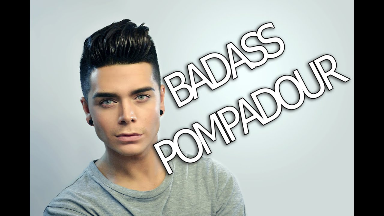 Mens Hairstyle Tutorial Badass Pompadour Youtube