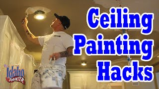 How to paint around ceiling lights. Simple painting hacks removing ...