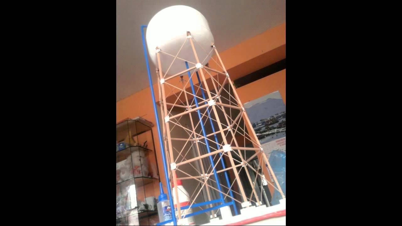 Tanque elevado maqueta youtube for Como hacer un tanque de agua para rustico