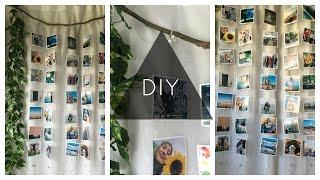 DIY Hanging Photo Wall