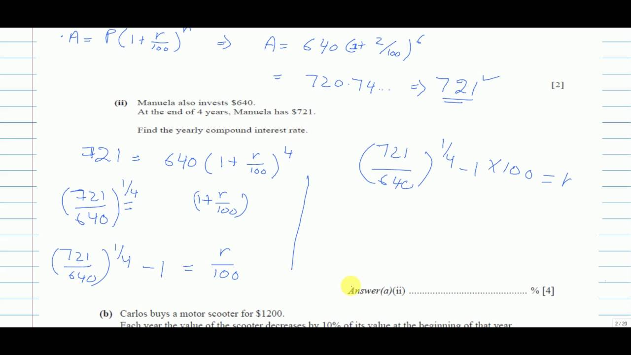 QUESTION 2┇ IGCSE MATHS 0580 ┇ PAPER 4 (43) ┇MAY JUNE 2015