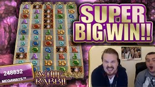 SUPER WIN WITH ALL REELS UNLOCKED IN WHITE RABBIT!