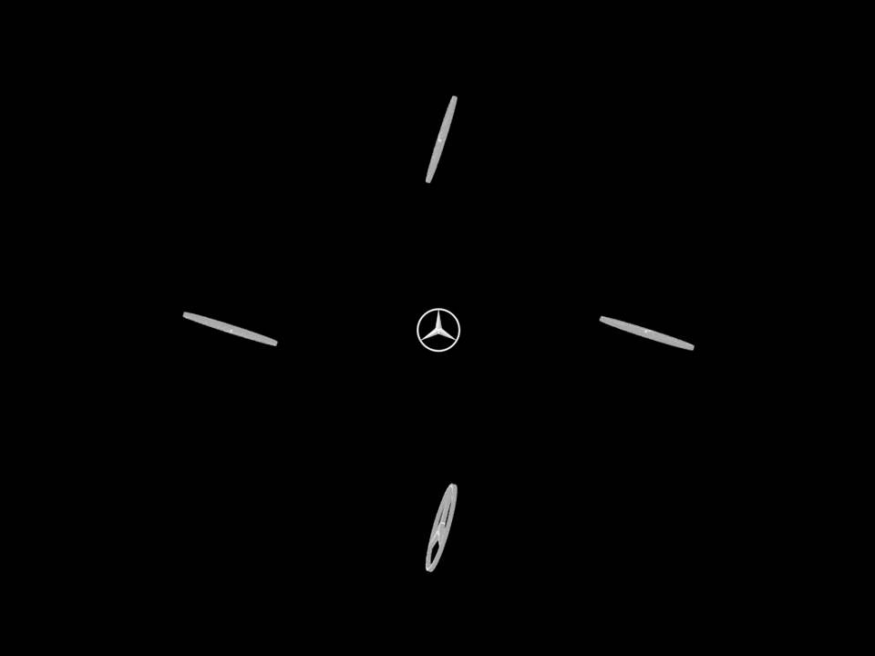 Mercedes Benz Logo Holographic 3d Hologram Youtube