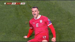 Srbija vs Portugal   Gol Filipa Kostića za 2:2   SPORT KLUB FUDBAL