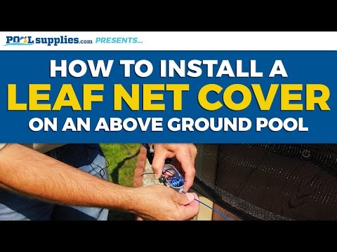how to take a mesh above ground pool cover off