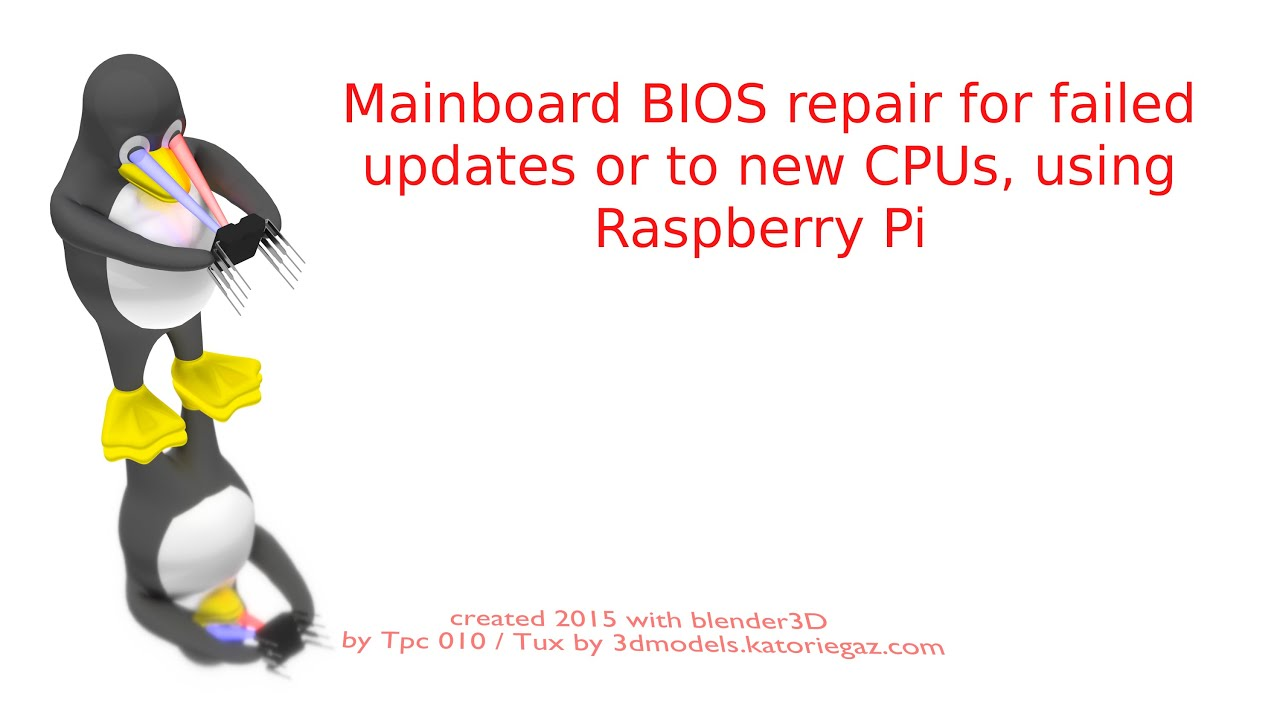 RE: [Guide] Recover from failed BIOS flash using Raspberry PI - 3