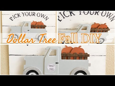 FALL DOLLAR TREE DIY | FARMHOUSE DECOR