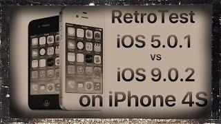 iPhone 4S Retro test : iOS 9.0.2 vs iOS 5.0.1(, 2015-10-08T12:51:39.000Z)