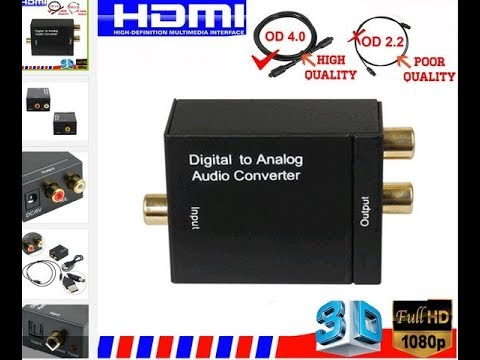 Optical Coaxial Toslink RCA L/R Audio Adapter