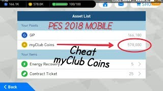 New Cheat Get 578,000 myClub Coins PES 2018 Mobile