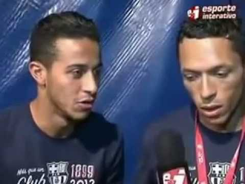 Interview with Thiago Alcantara and Adriano after wining Copa Del Rey