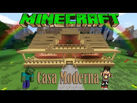 Minecraft casa moderna de madera facil tutorial 1 8 8 for Casas modernas minecraft faciles