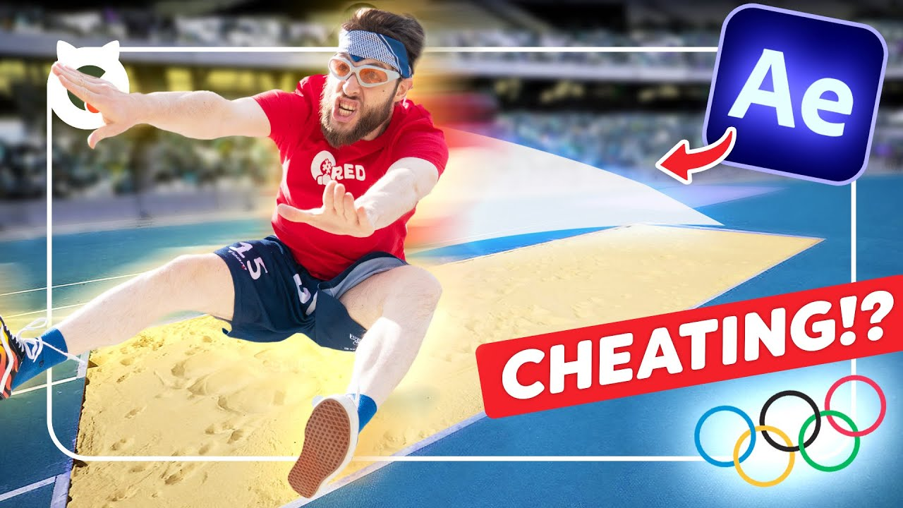 Extreme LONG JUMP After Effects Tutorial (Cheating the Olympics)