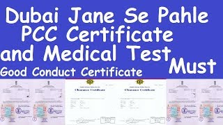 Dubai Jane Se Pahle PCC Certificate and Medical Must l Dubai Police Clearance Certificate