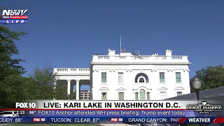must watch kari lake gives tour of white house grounds sean spicers press briefing room fnn