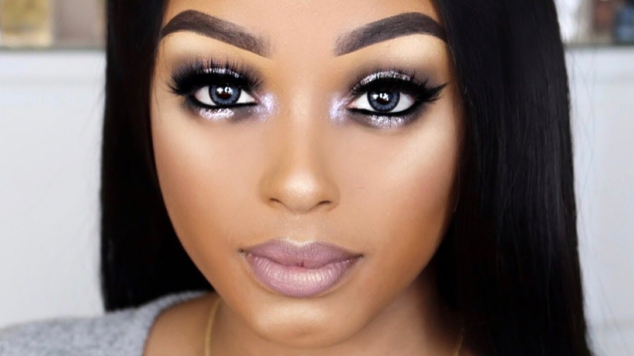 GLAM NEW YEARS EVE MAKEUP TUTORIAL WOC | Ft. HUDA BEAUTY, BEAUTY BAKERIE, NYX, SIGMA