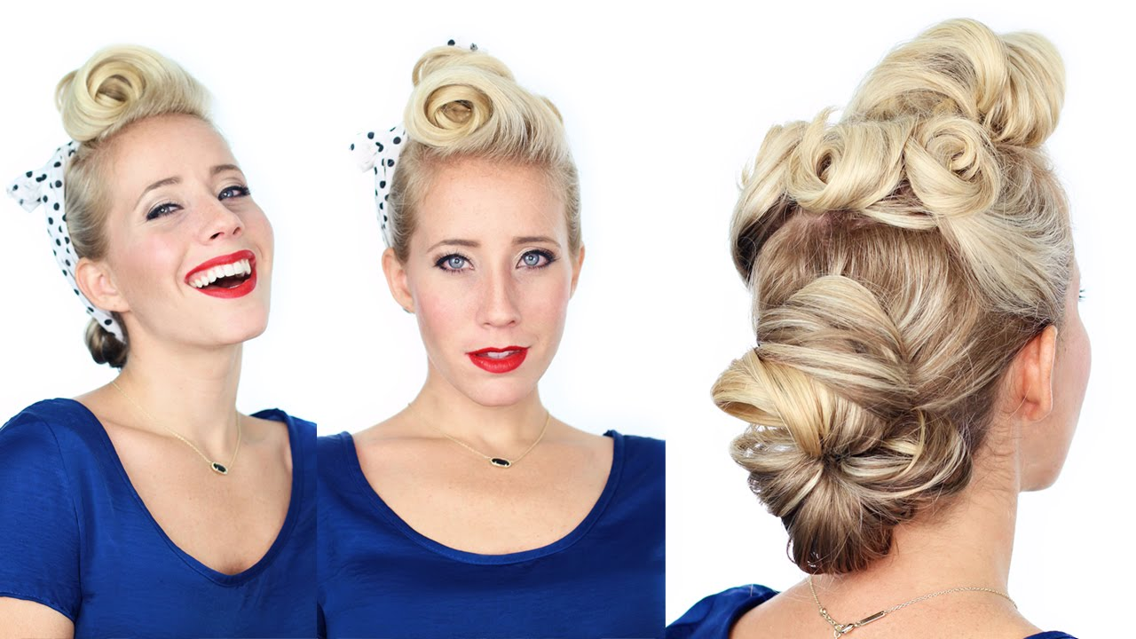 1940s Pin Up Girl Hairstyle Youtube