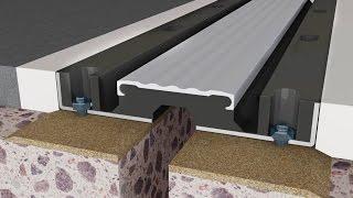 gUMBA BJ  подготовка деформационного шва перед установкой и монтаж конструкции