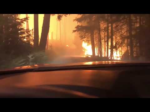 Video of Hikers escaping a wild fire is TERRIFYING!!!