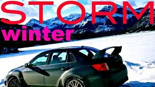 SNOW STORM  Paradise City Slash GnR | subaru WRX STi winter  Michelin Pilot Alpin