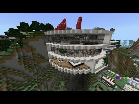 Minecraft Modern Mountain House 3