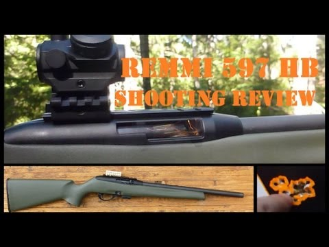 """Remington 597 Heavy Barrel Shooting Review - """"Lovin' It!"""" Have a look before getting that 10/22!"""