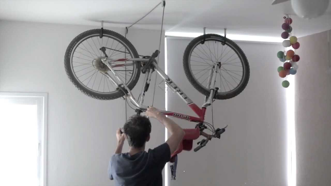 Bike Rack - one minute storage - YouTube