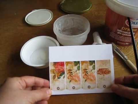 Декупаж - ФОТОбумага - распечатка на струйном принтере с водными чернилами - ТЕСТ 2