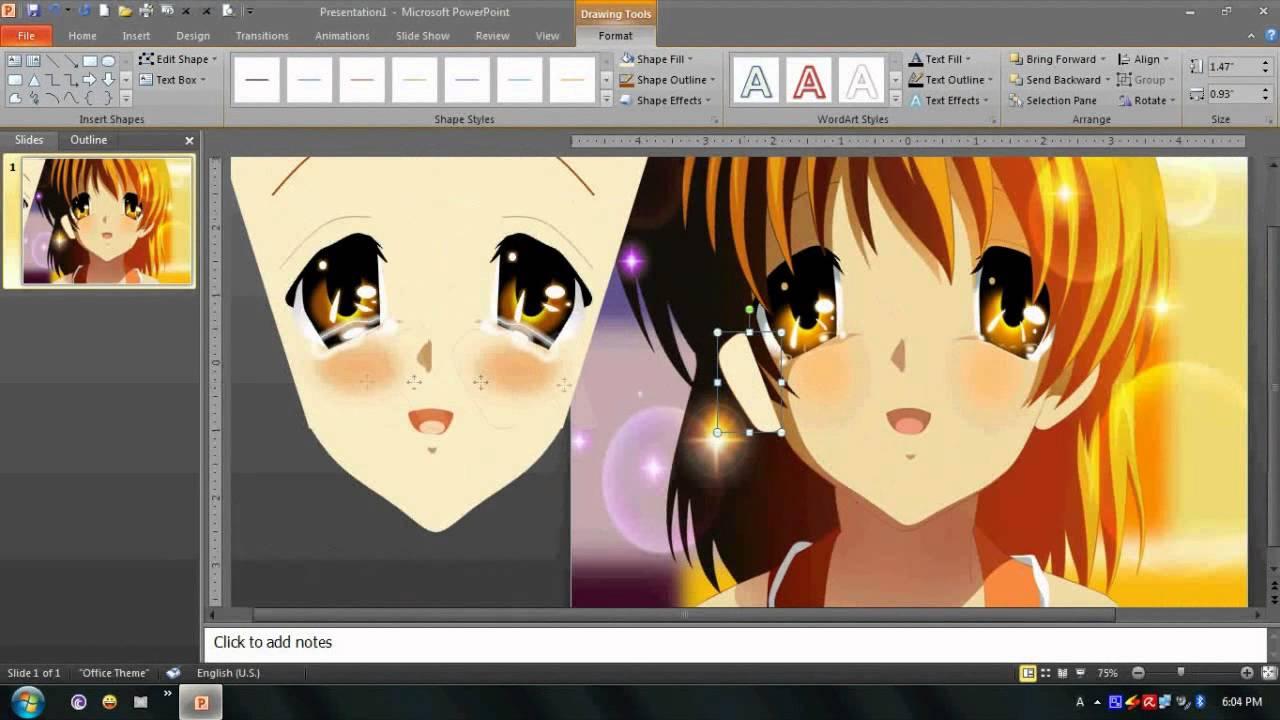 Drawing nagisa furukawa in powerpoint youtube toneelgroepblik Images