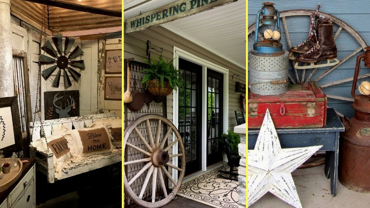DIY Rustic Farmhouse Style Porch Decor Ideas
