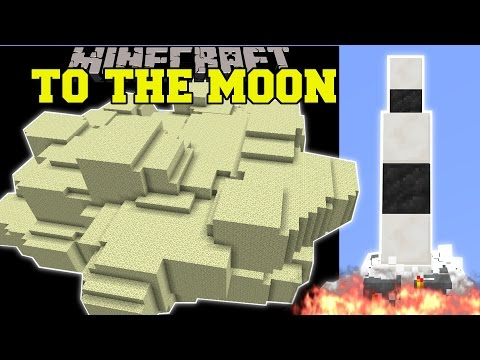 Minecraft: ROCKET SHIP TO THE MOON! (TRAVEL TO SPACE!) Custom Command Creation