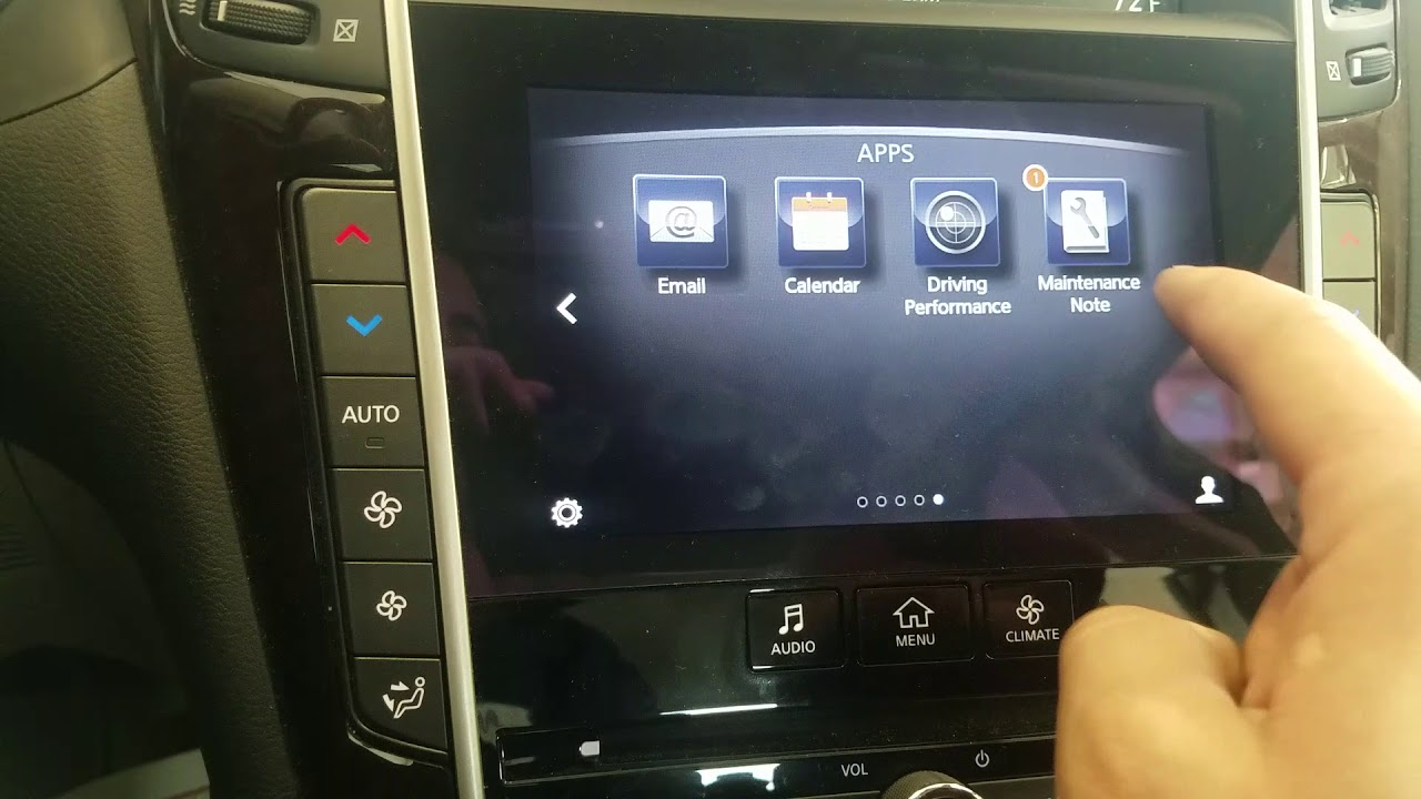 2017 Infiniti Q50 Maintenance Reset Procedure