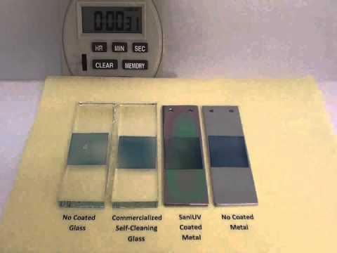Efficient Titanium Oxyde to kill bacteria - SaniUV coating poposed by Ionitec