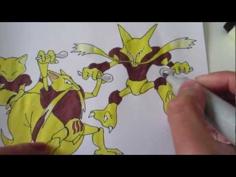 How to draw Pokemon: No.63 Abra, No.64 Kadabra, No.65 Alakazam