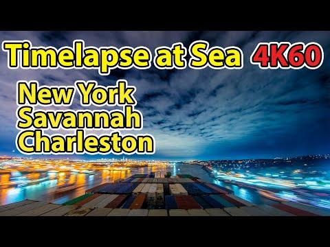 14 Days Timelapse of U.S. East Coast in 10 Minutes, across New York, Charleston, Savannah