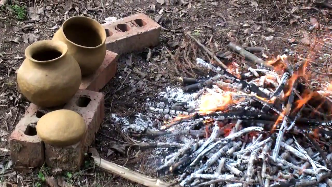 Primitive Pottery Firing 1 (HD) - YouTube