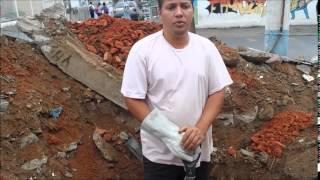 Construindo  sua casa passo a passo parte 2 cavando sapata