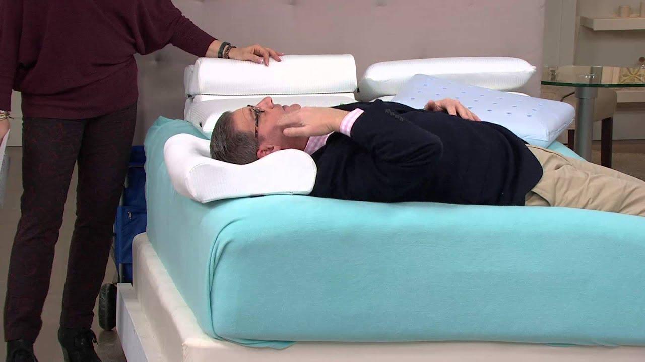 sensorpedic set of 2 contour memory foam pillows with pat james dementri