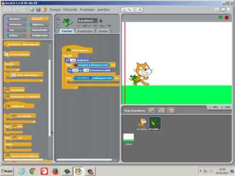 Scratch Programında En Basit Haliyle Karakter Zıplama