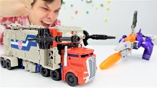 Видео с игрушками: Трансформеры! Оптимус против Гальватрона! Кто сильнее?(Видео с игрушками для мальчиков от канала #ПАПАтайм! Сегодня Трансформеры выясняют, кто сильней. Гальватрон..., 2016-12-08T08:05:11.000Z)