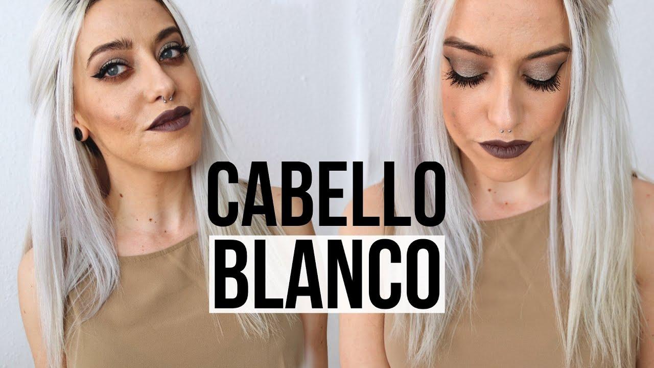 Como Tener El Cabello Blanco 2 Formas De Matizar El Pelo Blanco Decolorado O Rubio Cabello Blanco Pelo Blanco Matizador De Cabello