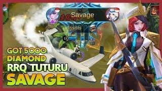 RRQ'Tuturu Perfect Savage with Miya & Got Airplane Gift '5000 Diamond' ~ Mobile Legends