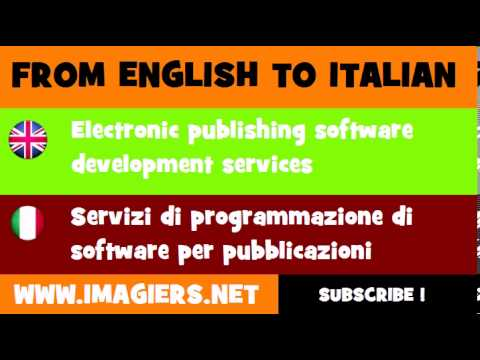 How to say Electronic publishing software development services in Italian