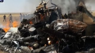 Raw: Russian Helicopter Shot Down in Syria