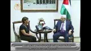 President Abbas receives Syrian singer Asala Nasri