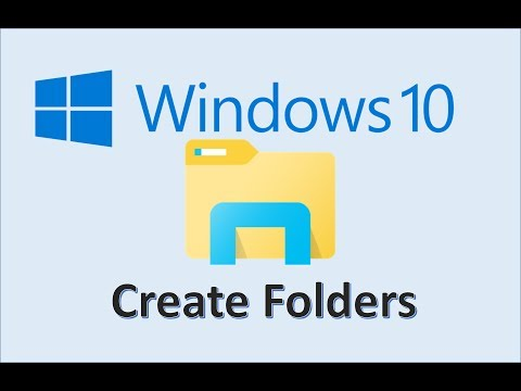 Windows 10 - Create Folders - How To Make a New Folder and Organize Files on Computer in Explorer